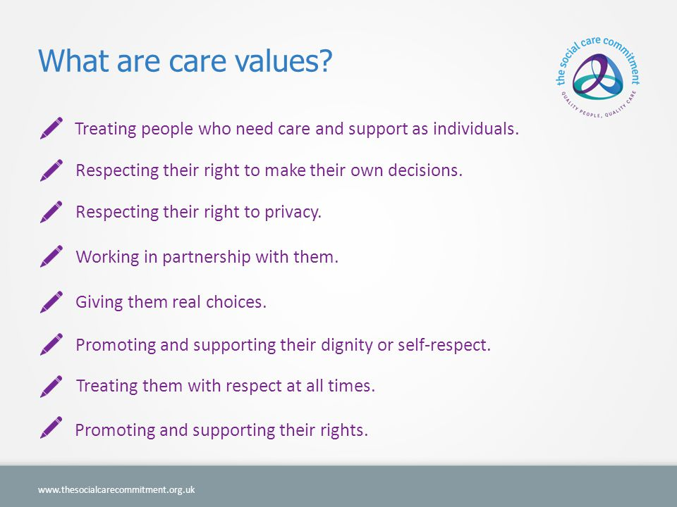 What are care values.