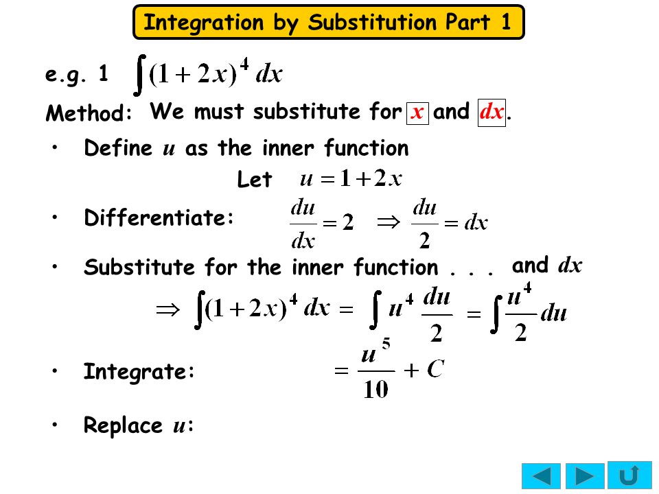 Integration by Substitution Part 1 Can you spot the important difference between these.