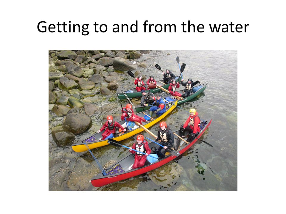 Getting to and from the water
