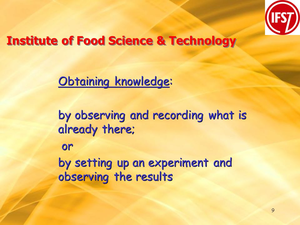 20 Institute of Food Science & Technology Where do our members work.