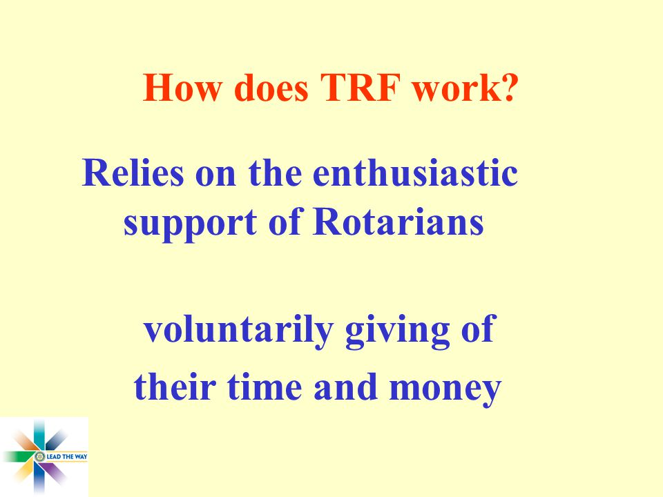 How does TRF work.
