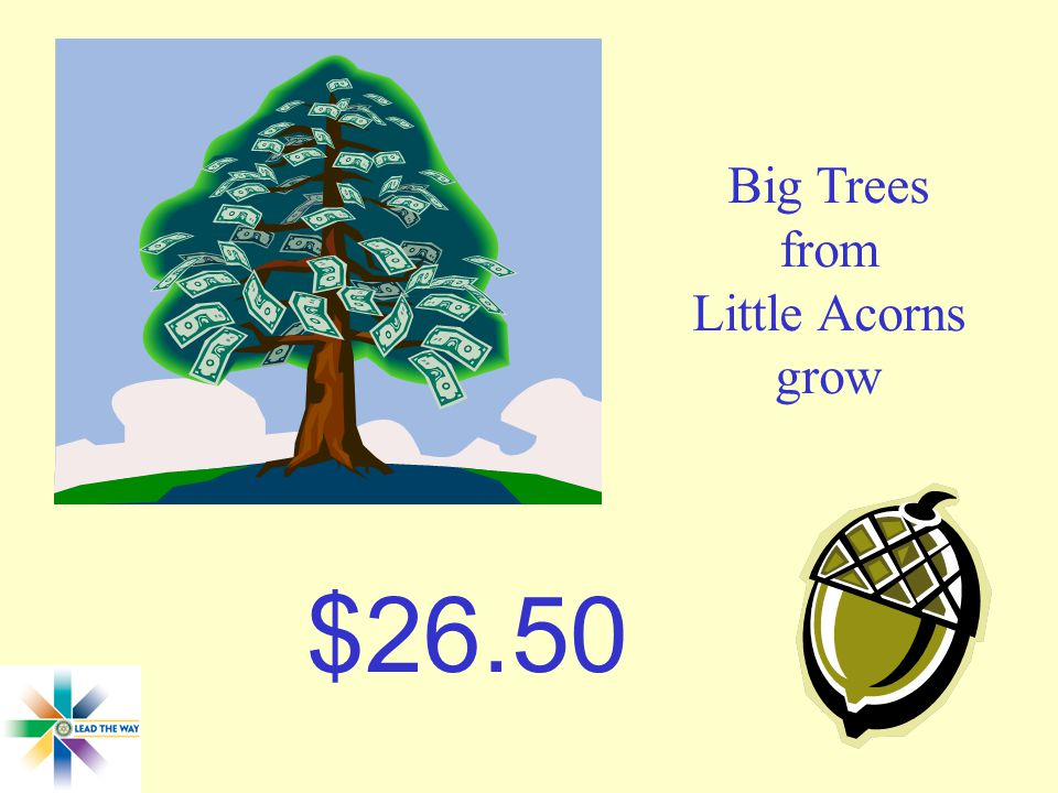 Big Trees from Little Acorns grow $26.50