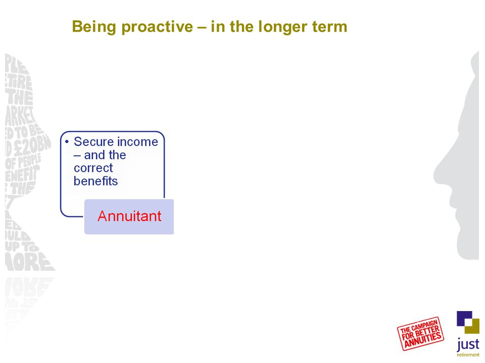 Being proactive – in the longer term