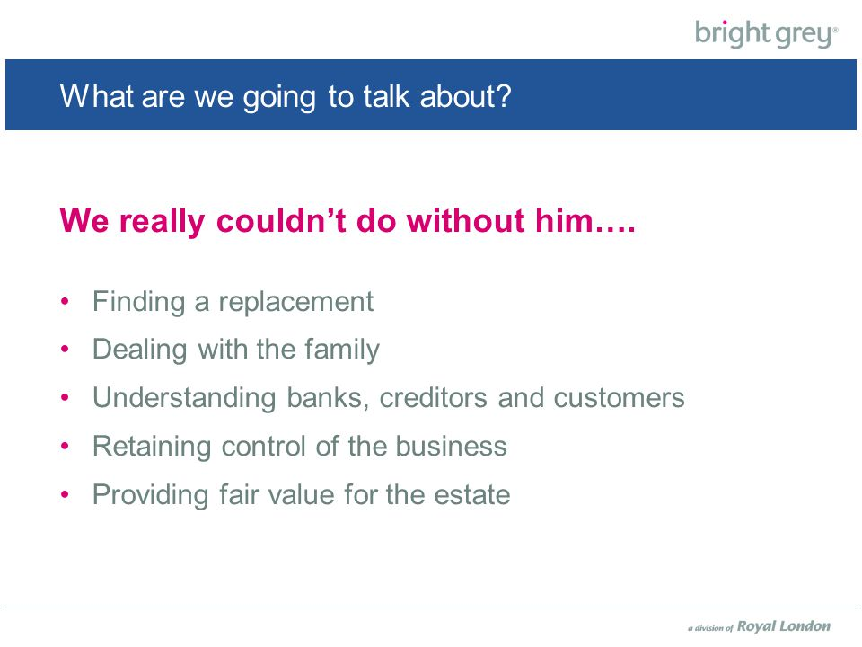 How do …….trade creditors feel today. Will they reduce or withdraw credit terms.