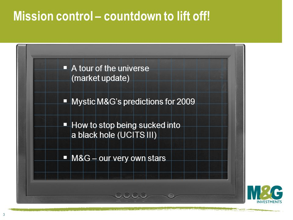 3 Mission control – countdown to lift off.