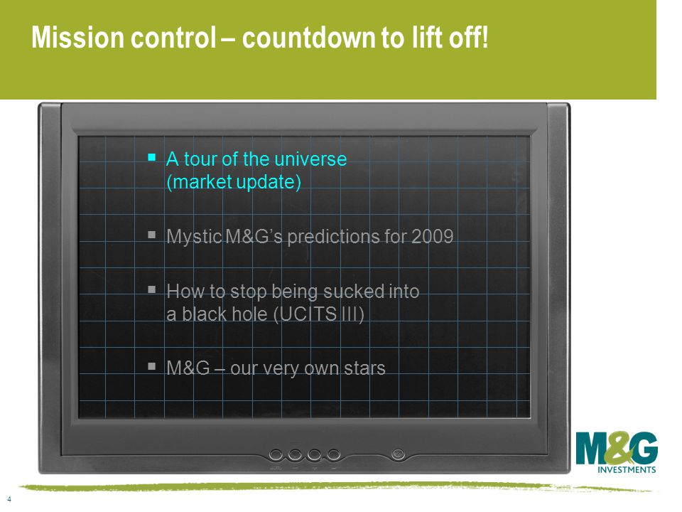 4 Mission control – countdown to lift off.