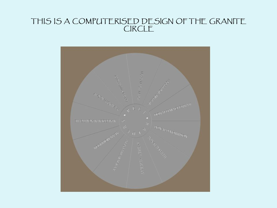 THIS IS A COMPUTERISED DESIGN OF THE GRANITE CIRCLE