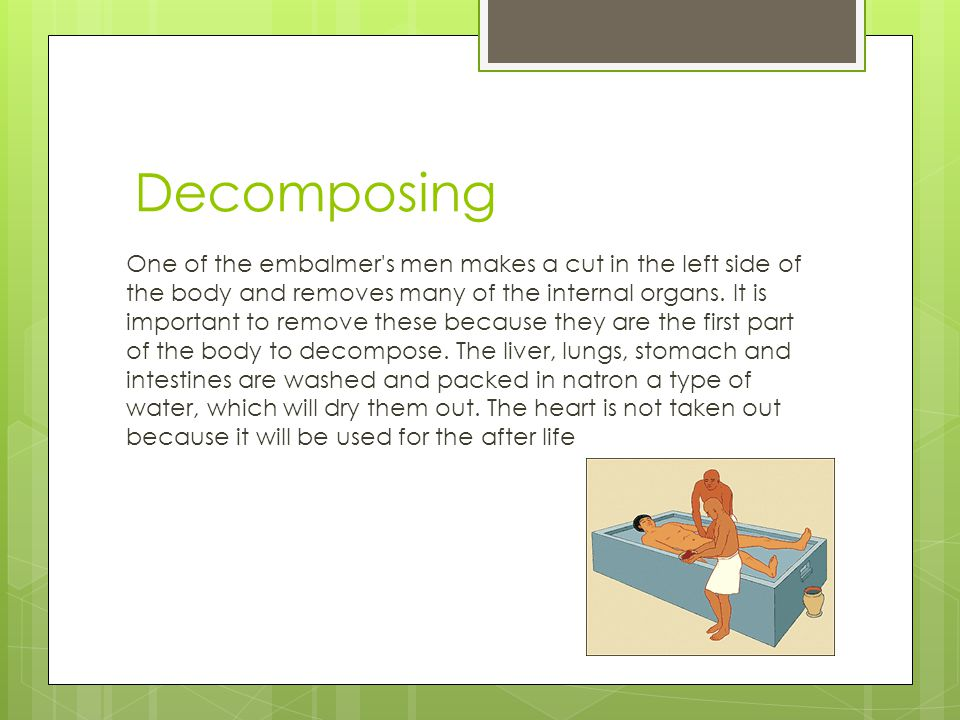Embalming the Body First, the body is taken to a tent known as 'ibu' or the 'place of purification'.