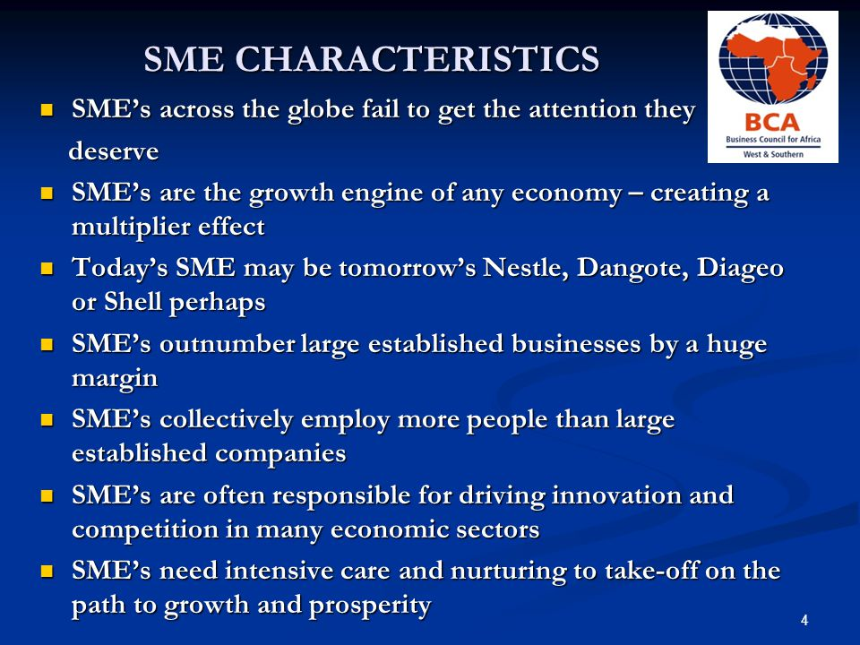 SME CHALLENGES Ability to raise finance Ability to raise finance Ability to present financial application in a form acceptable to a lender – i.e.
