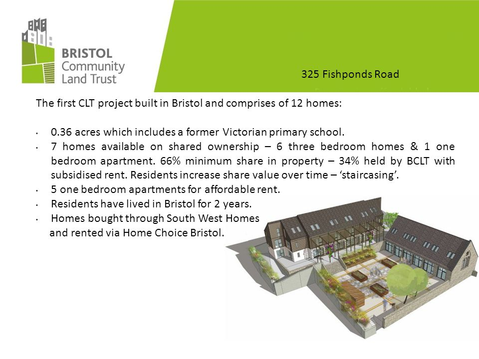 325 Fishponds Road Self-Finish/ Sweat Equity Residents commit 8-20 hrs/ wk during 2014.