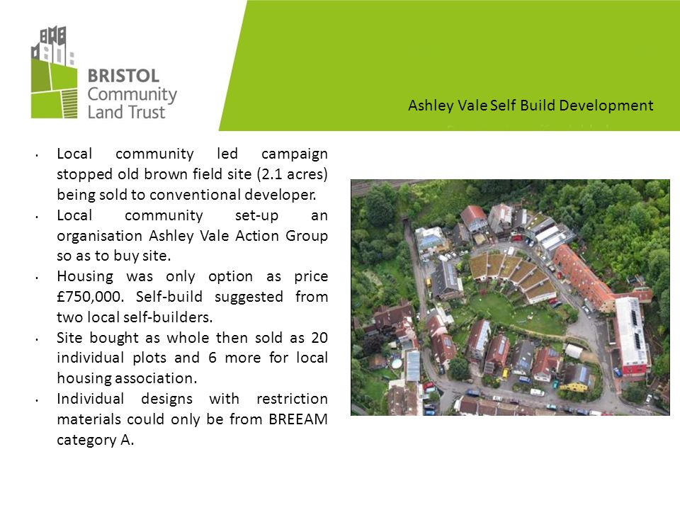 Ashley Vale Self Build Development Plots sold for around £35K.