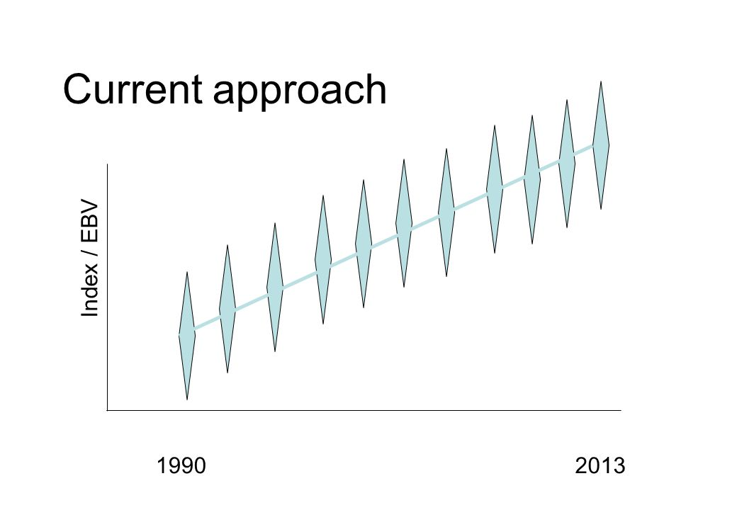 Current approach Index / EBV 19902013