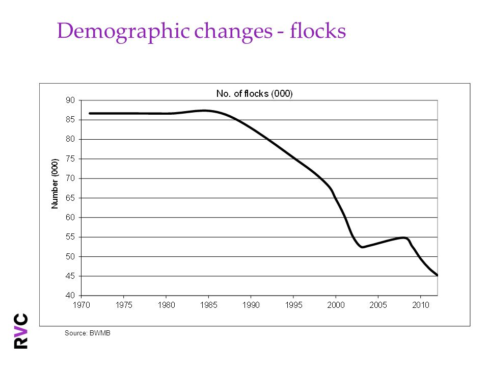 Demographic changes - flocks Source: BWMB