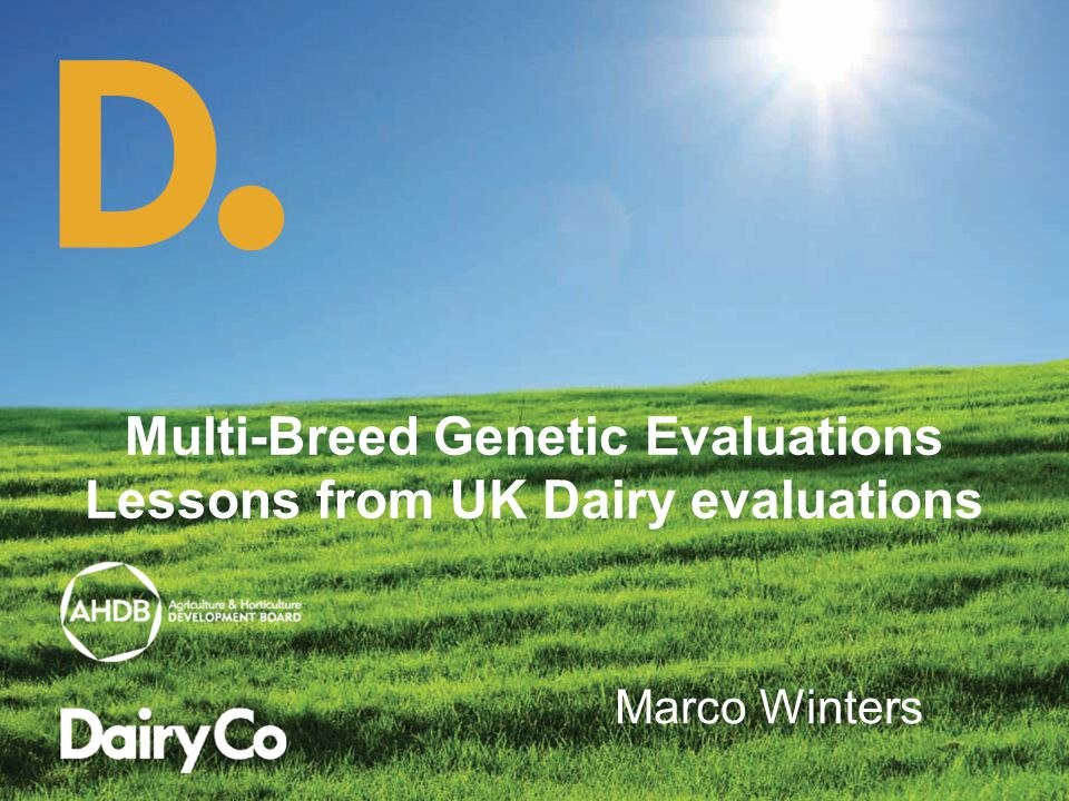 Multi-Breed Genetic Evaluations Lessons from UK Dairy evaluations Marco Winters