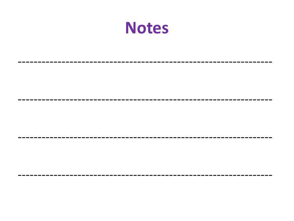 Notes ----------------------------------------------------------------