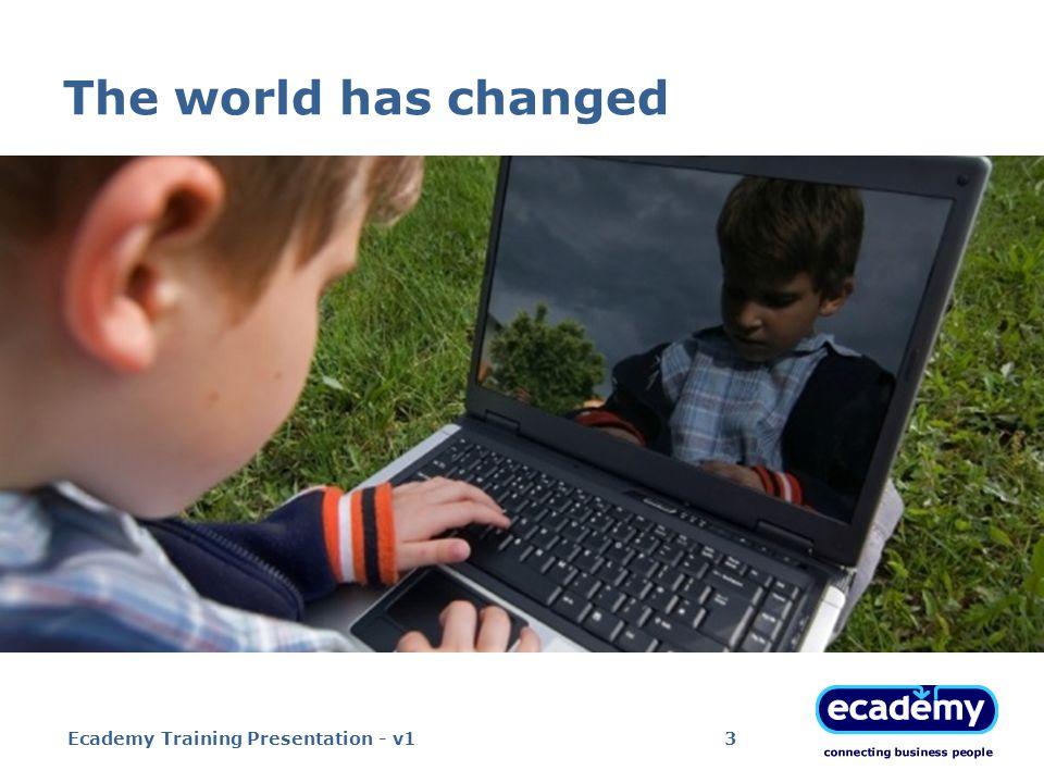 The world has changed Ecademy Training Presentation - v14