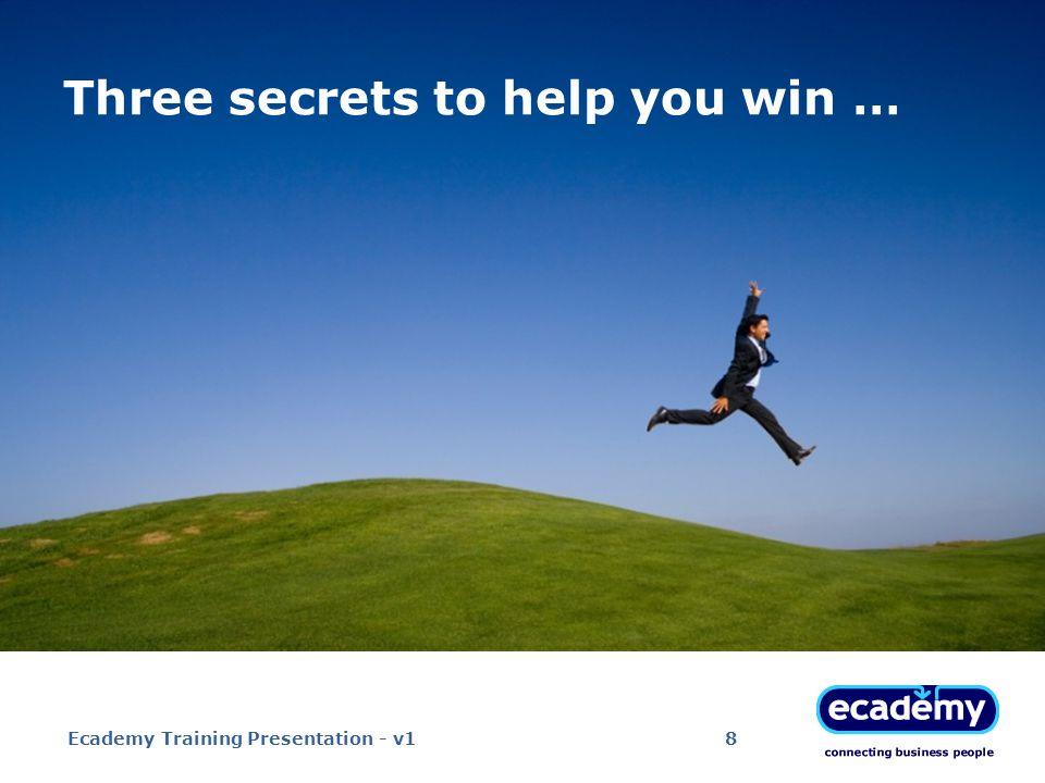 Ecademy Training Presentation - v119