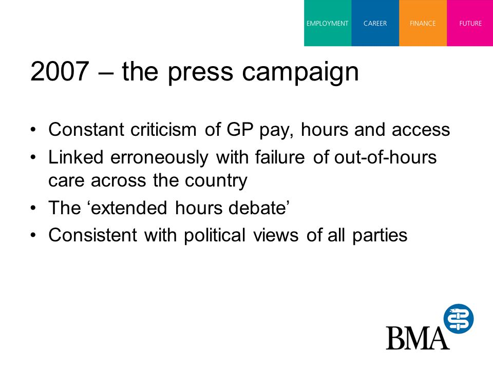 Choices to be made Imposition A Imposition B Implications of voting- neither acceptable but must consider what's best for the profession, patients and longer term future of General Practice