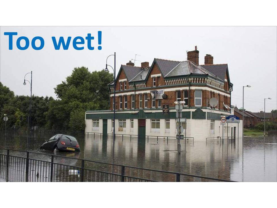 Too wet!