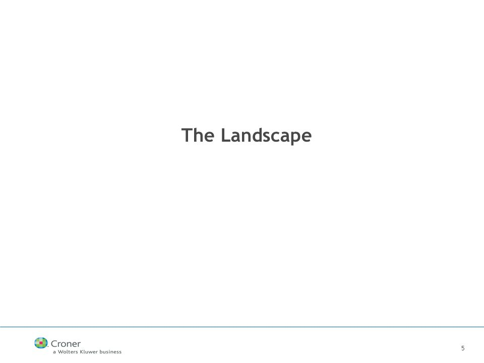 5 The Landscape