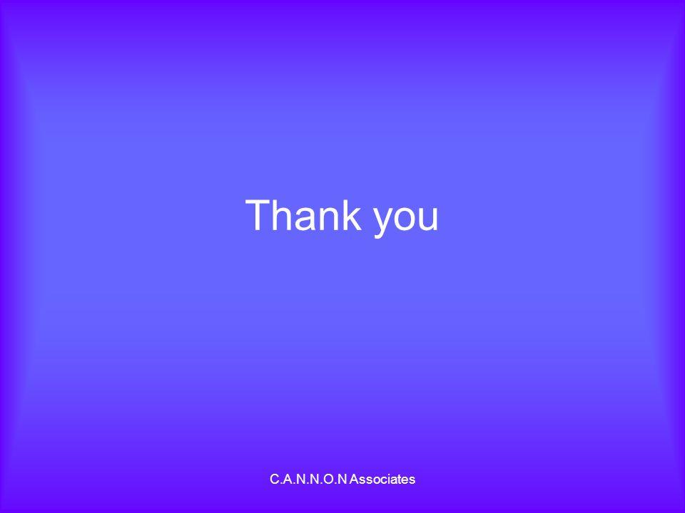 C.A.N.N.O.N Associates Thank you