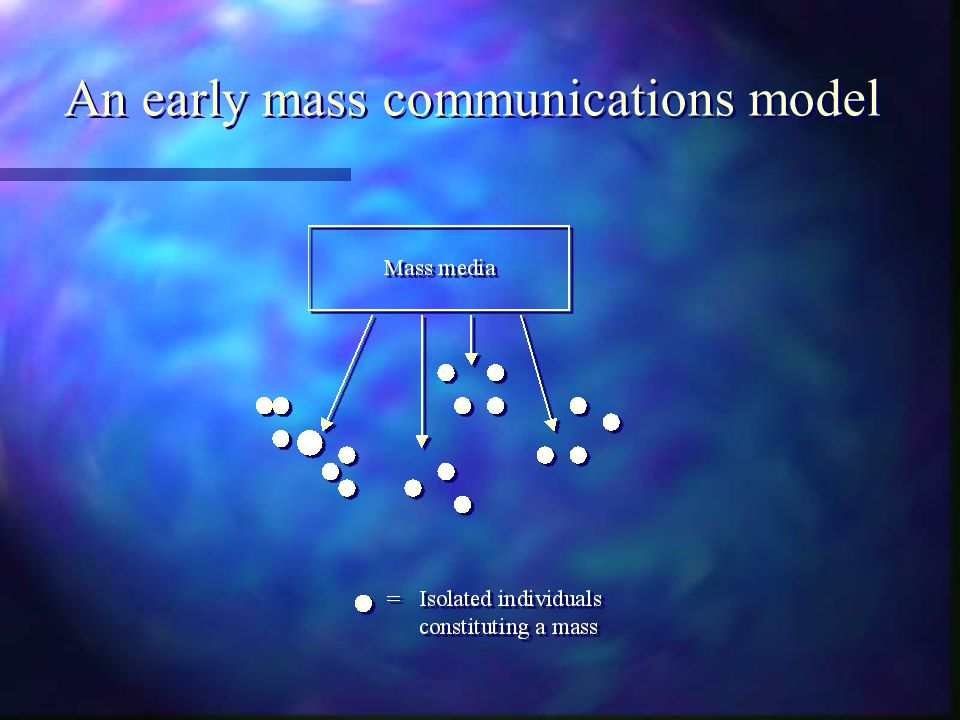 An early mass communications model