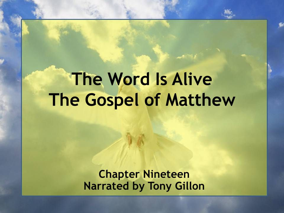 Chapter Nineteen Matthew 18:1–20:34 - The Community of the Messiah Revealed (Fourth Discourse) (continues)