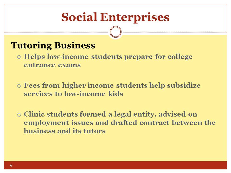 Entrepreneurship Clinics Worldwide Community Enterprise Clinic of Columbia Law School Professor: Barbara A.