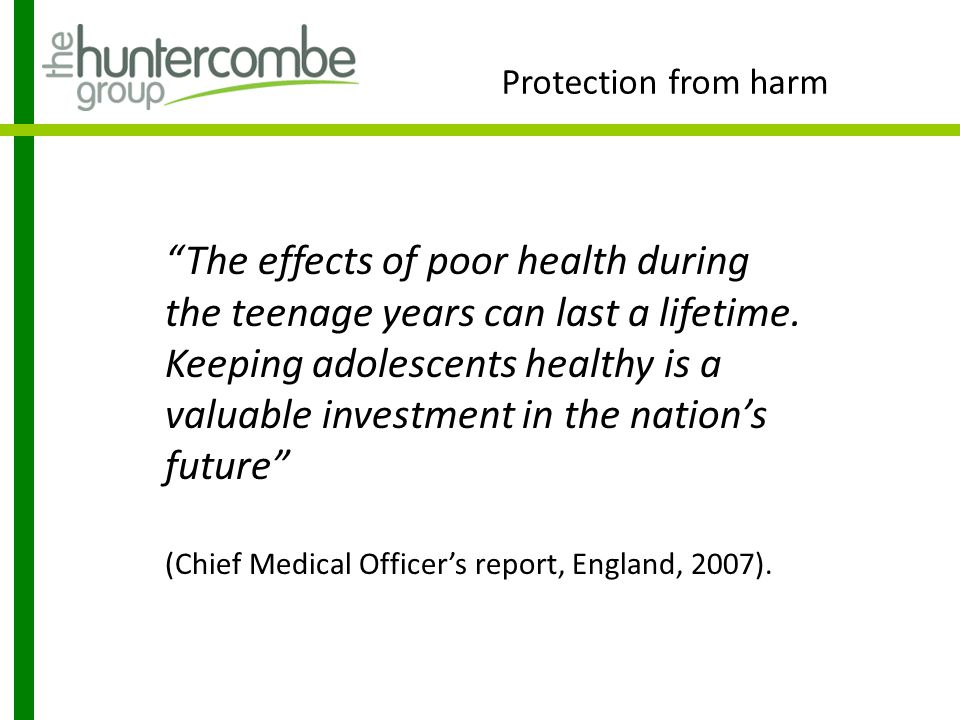 Protection from harm Sir Ian Kennedy's Report 'Getting it right for children and young people', described teenagers as … 'a forgotten group', caught between child and adult, and therefore between bureaucratic barriers and professional spheres of influence (p38).