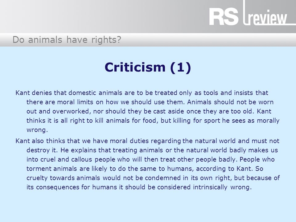 Do animals have rights.