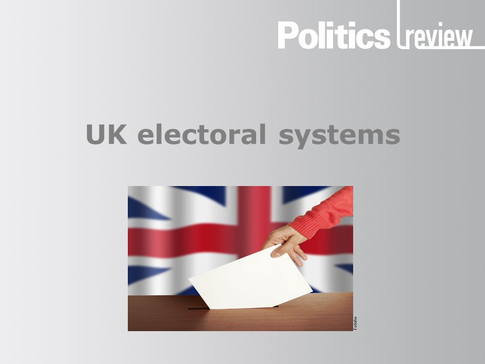 UK electoral systems How to revise electoral systems In order to achieve high marks when answering a question on electoral systems, you need to revise the following:  definitions of different electoral systems and key terms  examples of where different electoral systems are used in the UK, and how successfully they operate  examples of how election results vary depending on the electoral system used  analysis of how effective different electoral systems are The following slides begin by giving you an analytical framework to consider — the features of an ideal voting system — and then examine the different voting systems in turn.