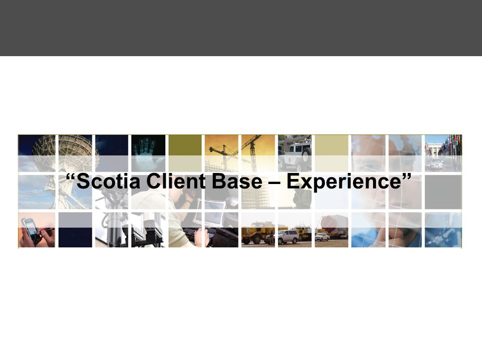 """""""Scotia Client Base – Experience"""""""