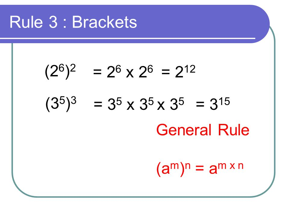 Rule 4 : Index of 0 How could you get an answer of 3 0 .