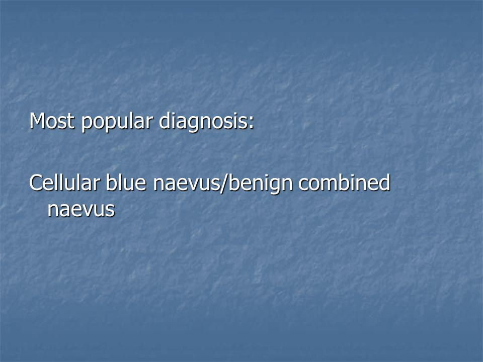 Most popular diagnosis: Cellular blue naevus/benign combined naevus