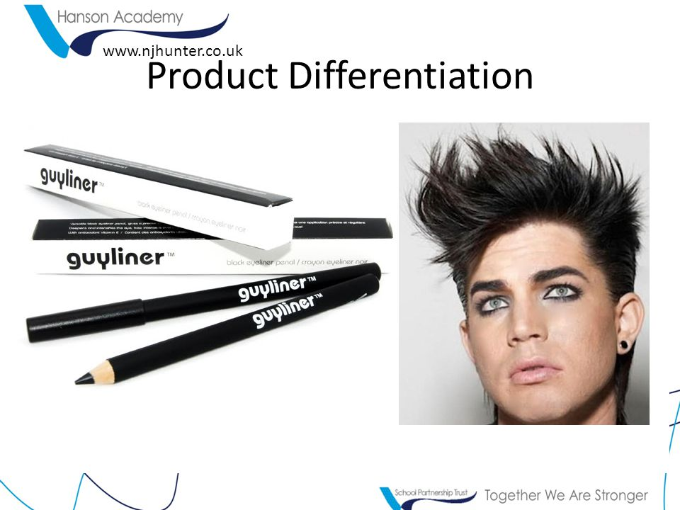 www.njhunter.co.uk Product Differentiation