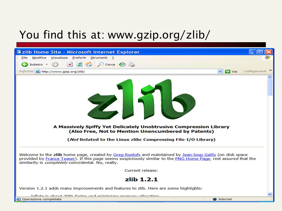 You find this at: www.gzip.org/zlib/