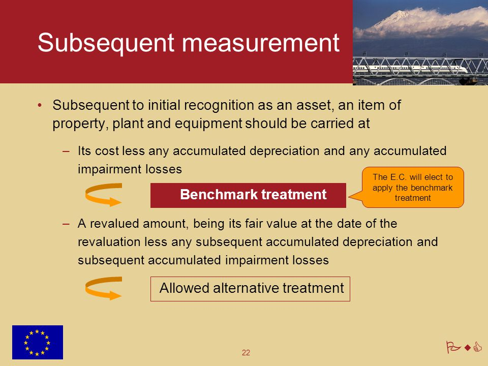 22 PwC Subsequent measurement Subsequent to initial recognition as an asset, an item of property, plant and equipment should be carried at –Its cost l