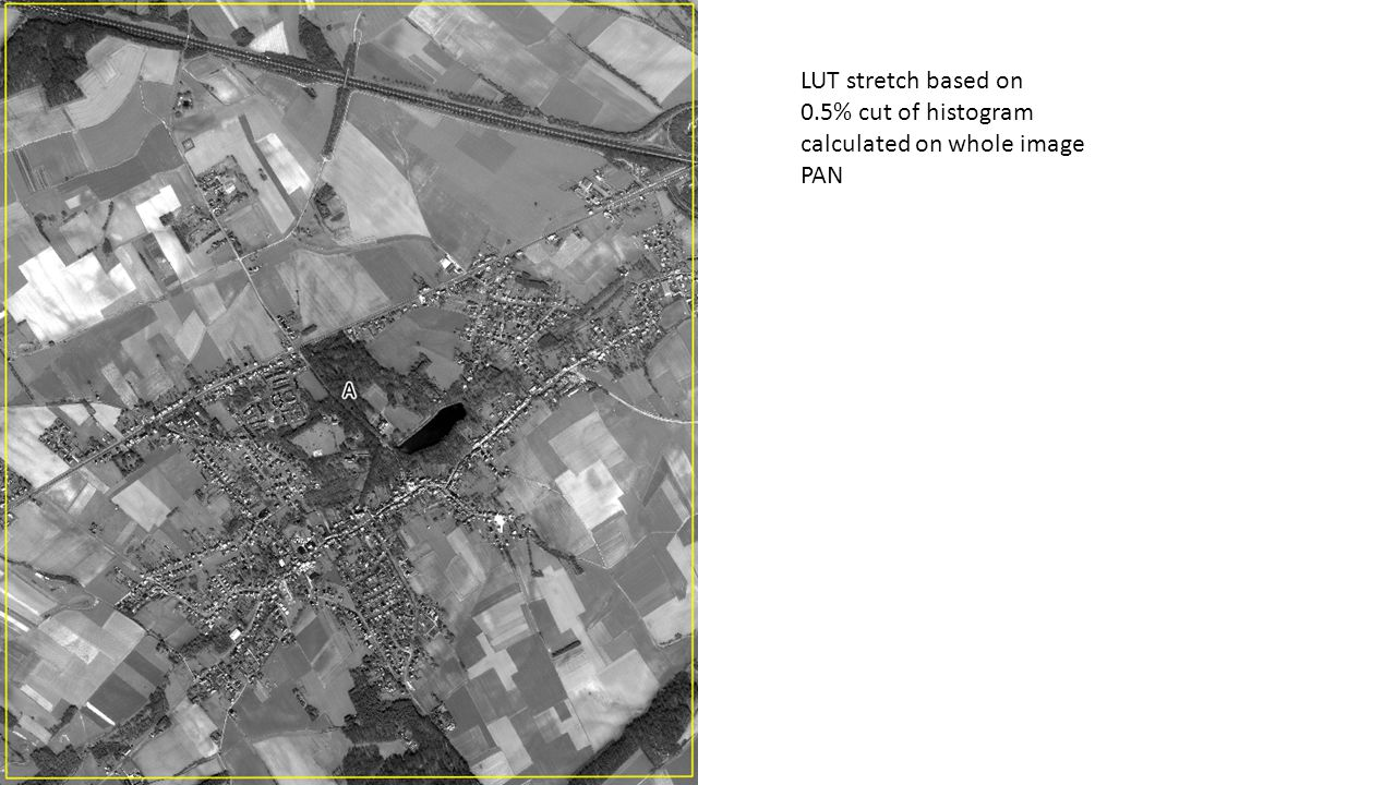 LUT stretch based on 0.5% cut of histogram calculated on whole image 321 RGB