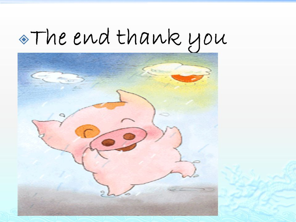  The end thank you