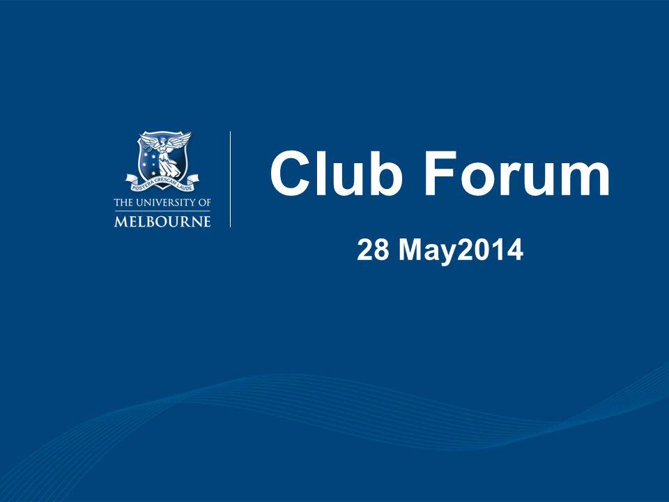 Club Forum 28 May2014