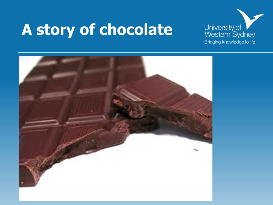 A story of chocolate