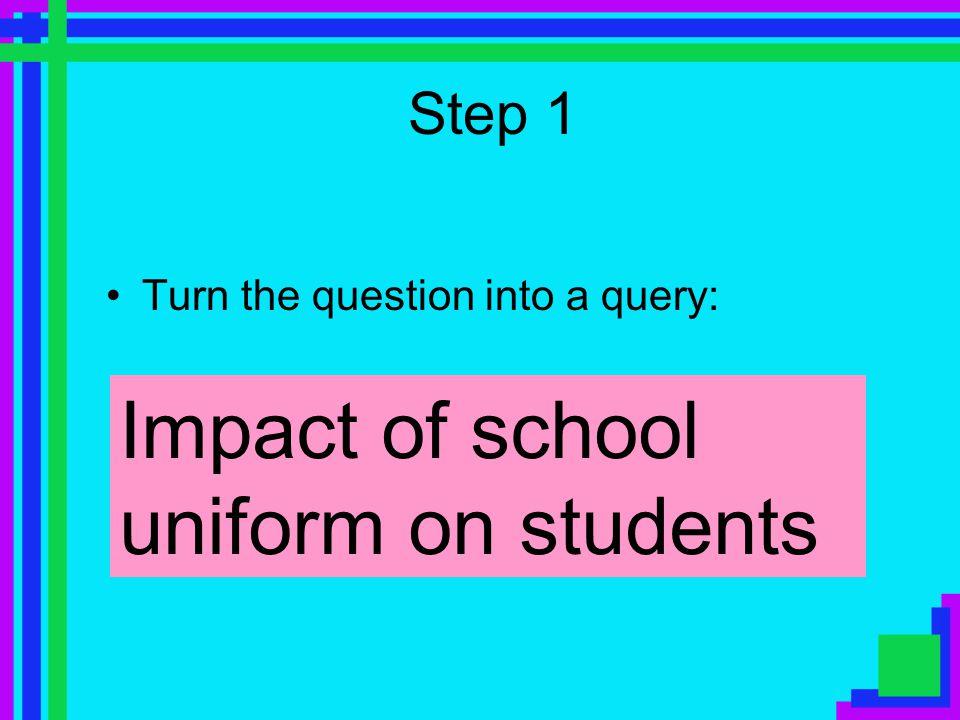 Should we get rid of school uniforms? The task: