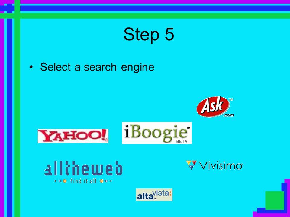 Step 4 Put together a query: some search words that make sense Impact school uniform achievement Advantages uniform student behaviour Advantages stude