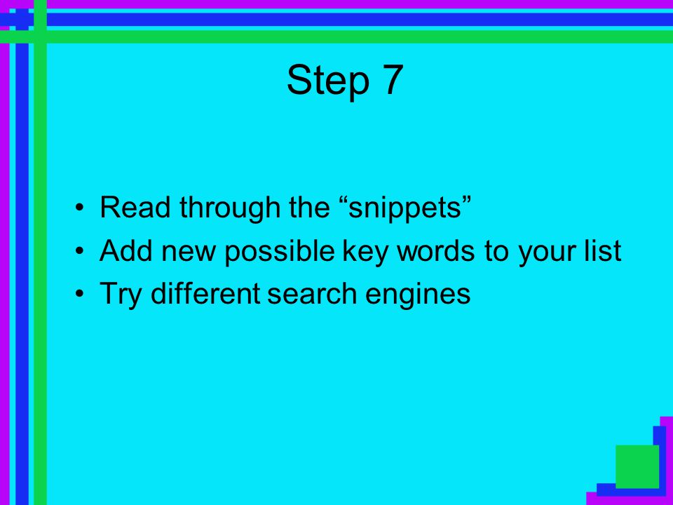 Step 6 Try some queries and review the results