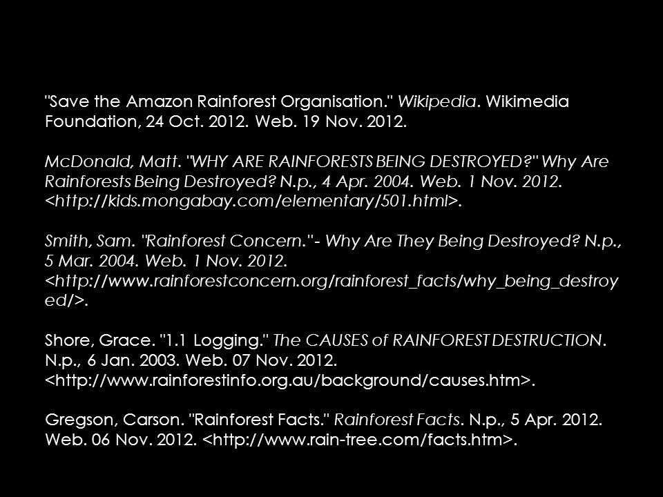 Save the Amazon Rainforest Organisation. Wikipedia.