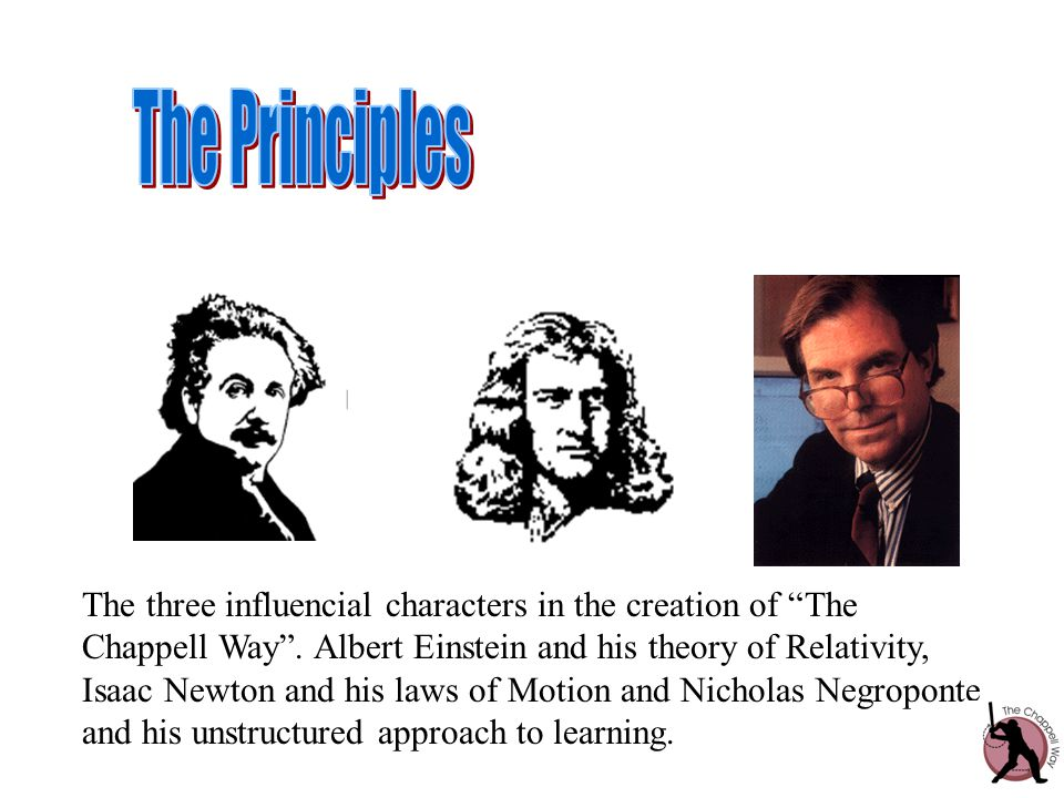 The three influencial characters in the creation of The Chappell Way .