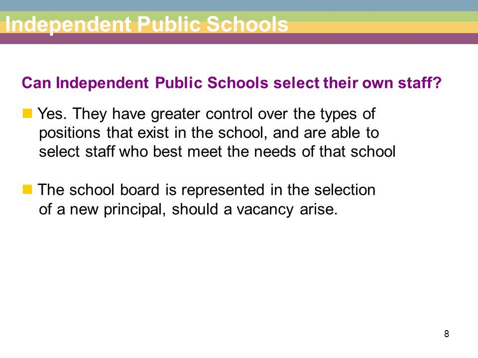 9 Independent Public Schools Will enrolment procedures change.