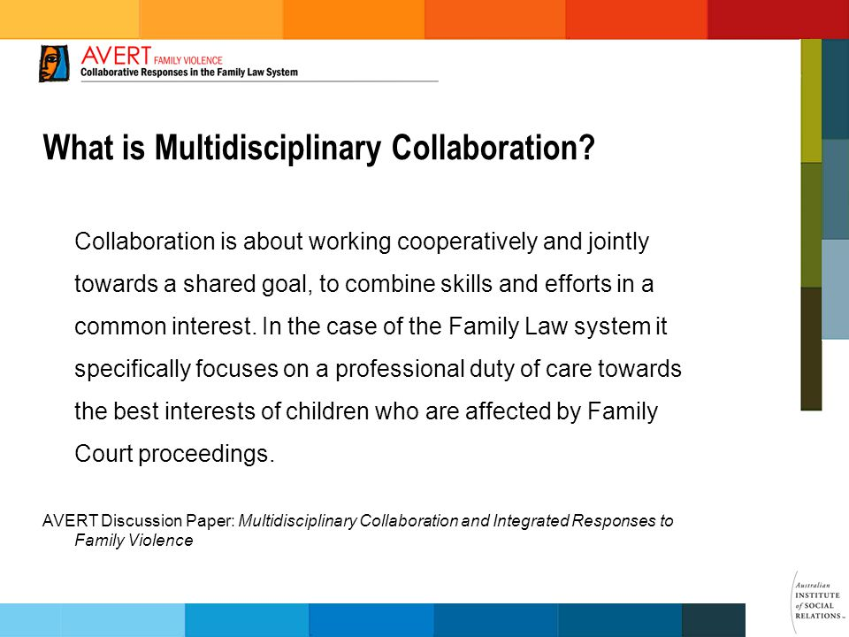 What is Multidisciplinary Collaboration.