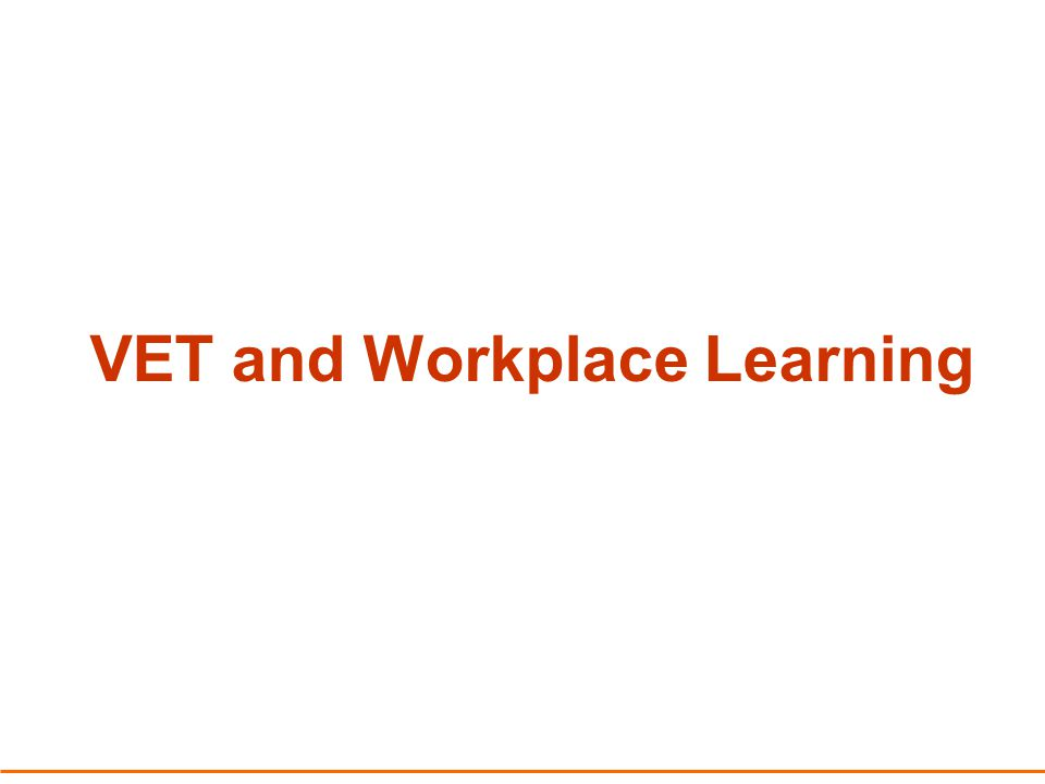 Vocational Education and Training in Schools (VETiS) Involves the training and demonstration of competencies by the student May include Workplace Learning (WL) and integrated units of competency VET credit transfer counts towards WACE Partnership arrangements with Registered Training Organisations (RTO)