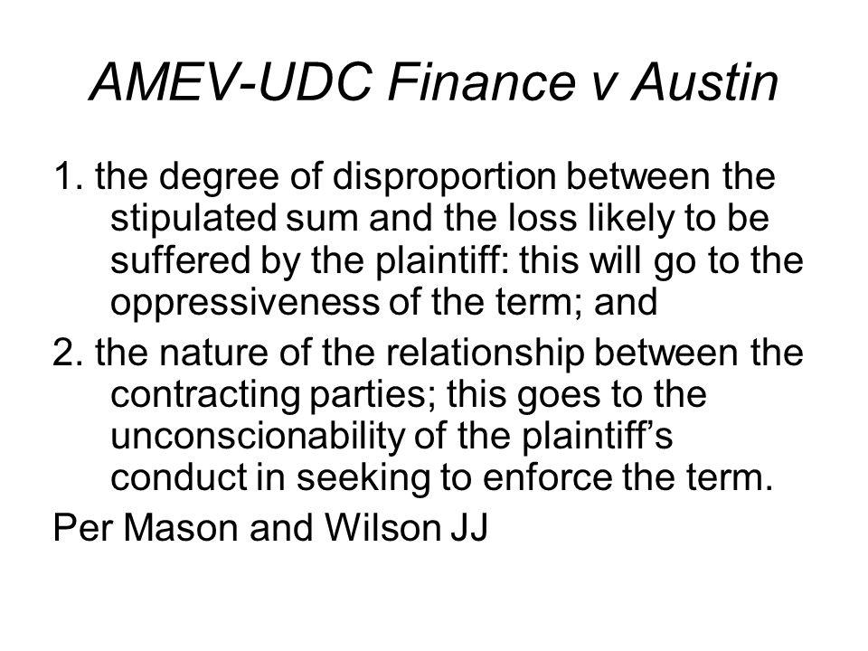 AMEV-UDC Finance v Austin 1.